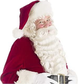 Santa Beard and Wig Set Santa Claus Beard and Wig Santa Wig and Beard Set White