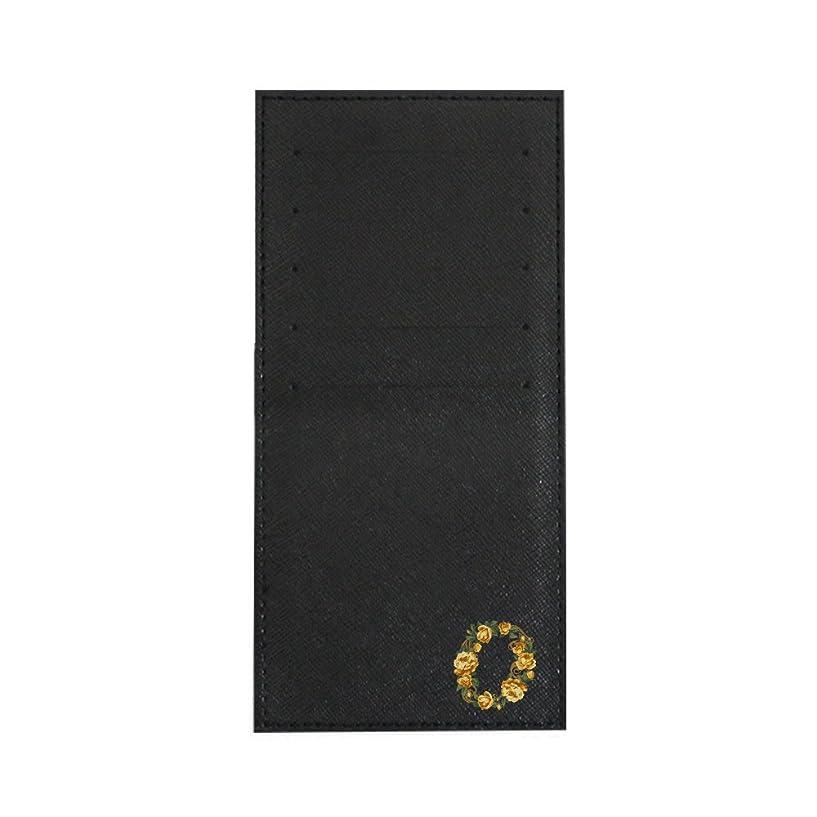 見習い欠乏兵器庫インナーカードケース 長財布用カードケース 10枚収納可能 カード入れ 収納 プレゼント ギフト 2803フラワーネーム ( O ) ブラック mirai