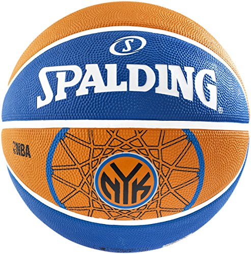 New Spalding NBA NY KNICKS TEAM BASKETBALL, Blue, 7