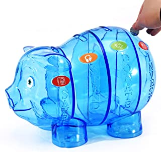 yeesport Pig Piggy Bank Large Capacity Money Saving Box Password Coin Bank for Children