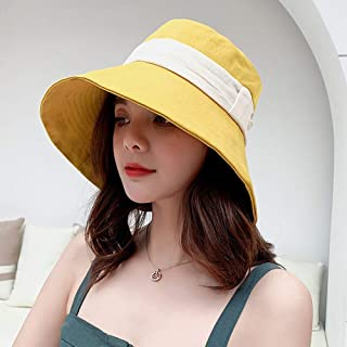 BEESCLOVER Women Fisherman Sun Hat Wide Flat Brim Cotton Cap for Out Travel