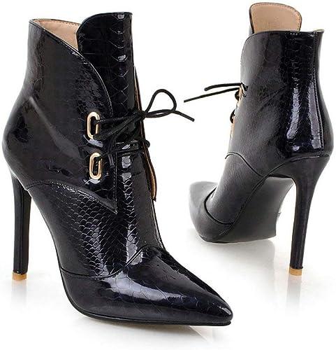 AnHommesgXinLing JIXIANGNVXIE-119-A-A1268-9-B-A1268-8, Bottes pour Femme - Noir - noir(b), 36.5
