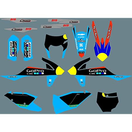 MXP Graphics Customized Motorcross Stickers Dirt Bike Decals Kit Fit for KTM EXC EXC XC XCF 2020 /& for KTM SX SXF 2019-2020 DST0872