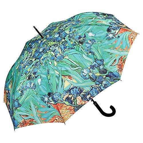 VON LILIENFELD® Ombrello Motiv Automatico Donna Arte Fiore Vincent van Gogh: Iris