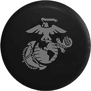 Eagle Globe Marine USMC Anchor Spare Tire Cover fits SUV Camper RV Accessories Gray Ink 35 in