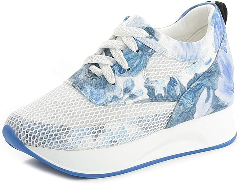 | U MAC Womens High Heels Wedge Sneaker Height