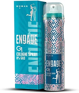 Engage G1 Cologne Spray For Women, Floral and Sweet, Skin Friendly, 135ml