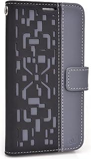 Kroo Flip Folio Case for Samsung Galaxy S5 - Non-Retail Packaging - Black/Grey