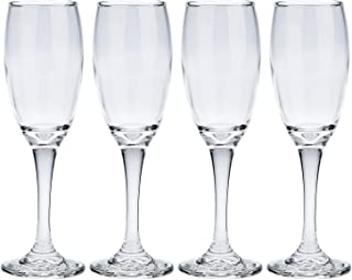 Harmony Set of 4 Champagne Glass, Clear - LTC00036