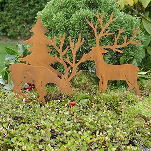Gartenzaubereien Hirsch Set 2 Mod.mit Tanne