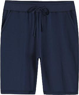 Weintee Women's Soft Knit Bermuda Shorts with Pockets