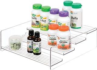 iDesign rangement cuisine, grande étagère de rangement en plastique à 4 niveaux, étagère à épices pratique pour épices et ...