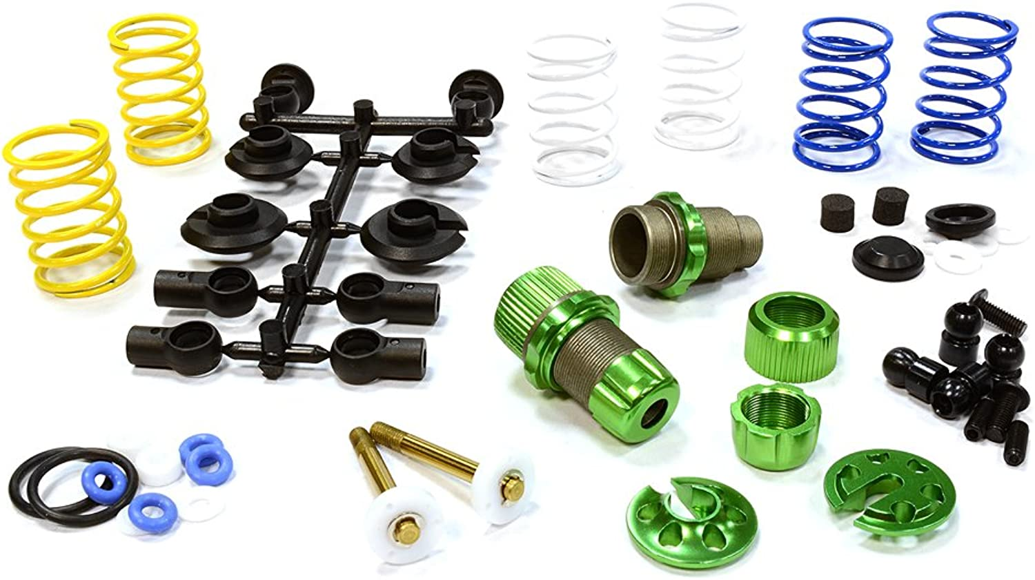 Integy RC Model Hop-ups C25910GREEN XSR11 Competition 52-55mm Racing Shock (2) for 1 10 Touring Car & Drift Car
