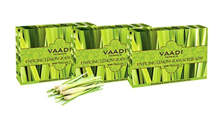 Vaadi Herbals Scrub Soap - Lemongrass 6x75g