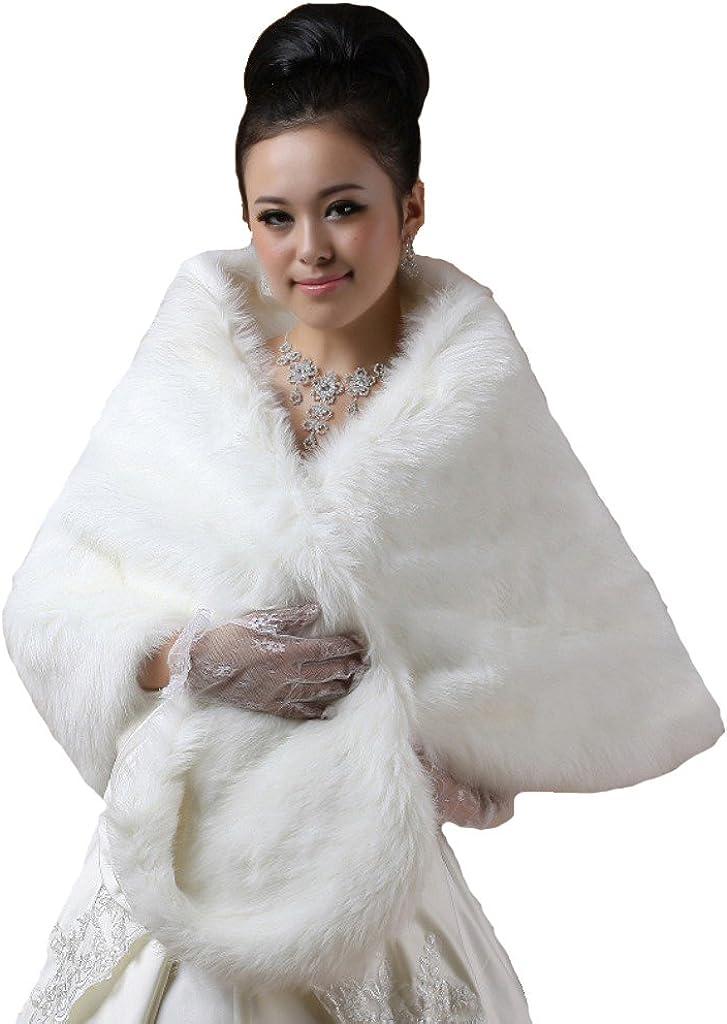Cinda Clothing Women's Faux Fur Bolero Shrug