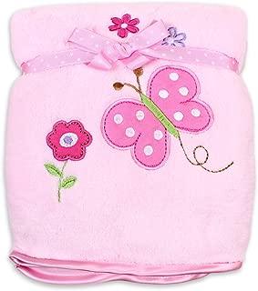 Spasilk Baby Thick Double Layer Plush Blanket with Satin Trim