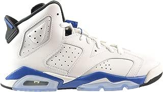 Jordan Air 6 Retro BG Big Kids Shoes White/Sport Blue-Black 384665-107