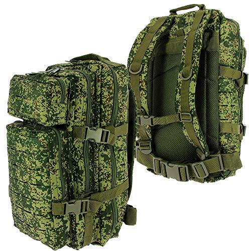 Golan 36L Assault Backpack Tactical Rucksack Laser Cut Molle Camping Travel Bag (Pick a Colour) (Russian Camo)