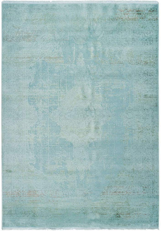 Moderner Vintage Teppich used Ornament Design Blau Blau Blau Türkis Grau Blau Flieder B07Q6NX3RT cebca2