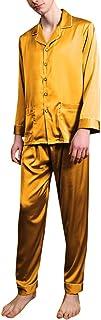 Allthemen Pigiama Set da Uomo a Manica Lunga 2 Pezzi Classic Lounge Wear Sleepwear Tradizionale da Notte