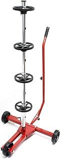 Verrijdbare bandenstandaard/velgenboom voor personenautobanden tot 225 mm