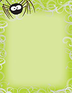 Great Papers! Halloween Spider Swirls Letterhead and Printer Paper, Imprintable Stationery, 80 Sheets, 8.5