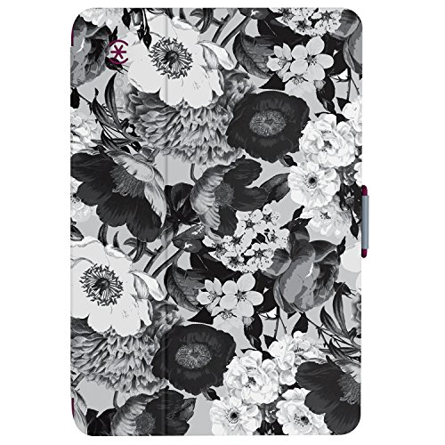 Speck Products StyleFolio Case and Stand for iPad Mini 4, Vintage Bouquet/Nickel Grey/Boysenberry Purple