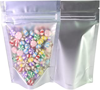 100PCS Matte Clear Front Silver Back Stand-Up 1oz Bags (8.5x13cm (3.3x5.1
