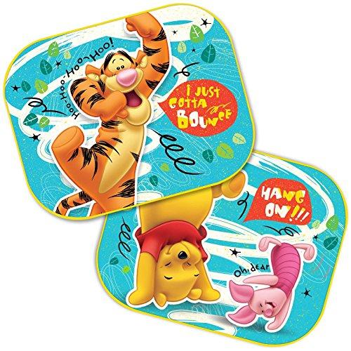 2 cortinas de protección solar para las ventanillas laterales a elegir: Mickey - Cars - Starwars Winnie/UV Regalo para niño - Winnie The Pooh
