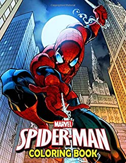 Marvel Spiderman Coloring Book: 50 Spider-man Coloring Pages Funny Books Gifts for Kids and Adults