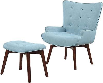 Amazon.com: Sillón simple, vestíbulo de dormitorio, mesa de ...