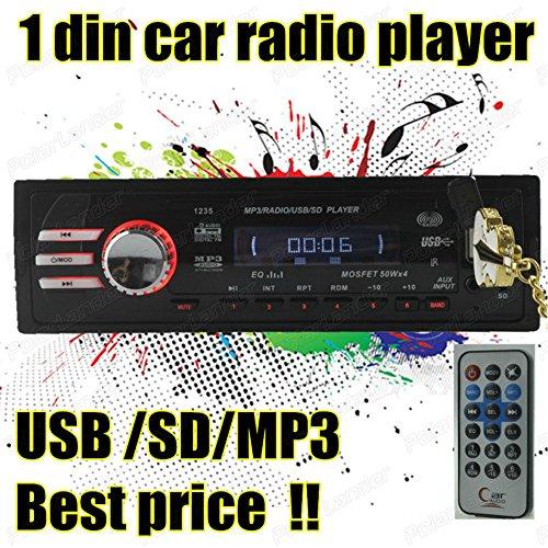 Boomboost en la Radio del Coche de la rociada AudioSD/USB/AUX/FM estéreo para el iPod Remoto HeadUnit Reproductor Mp3