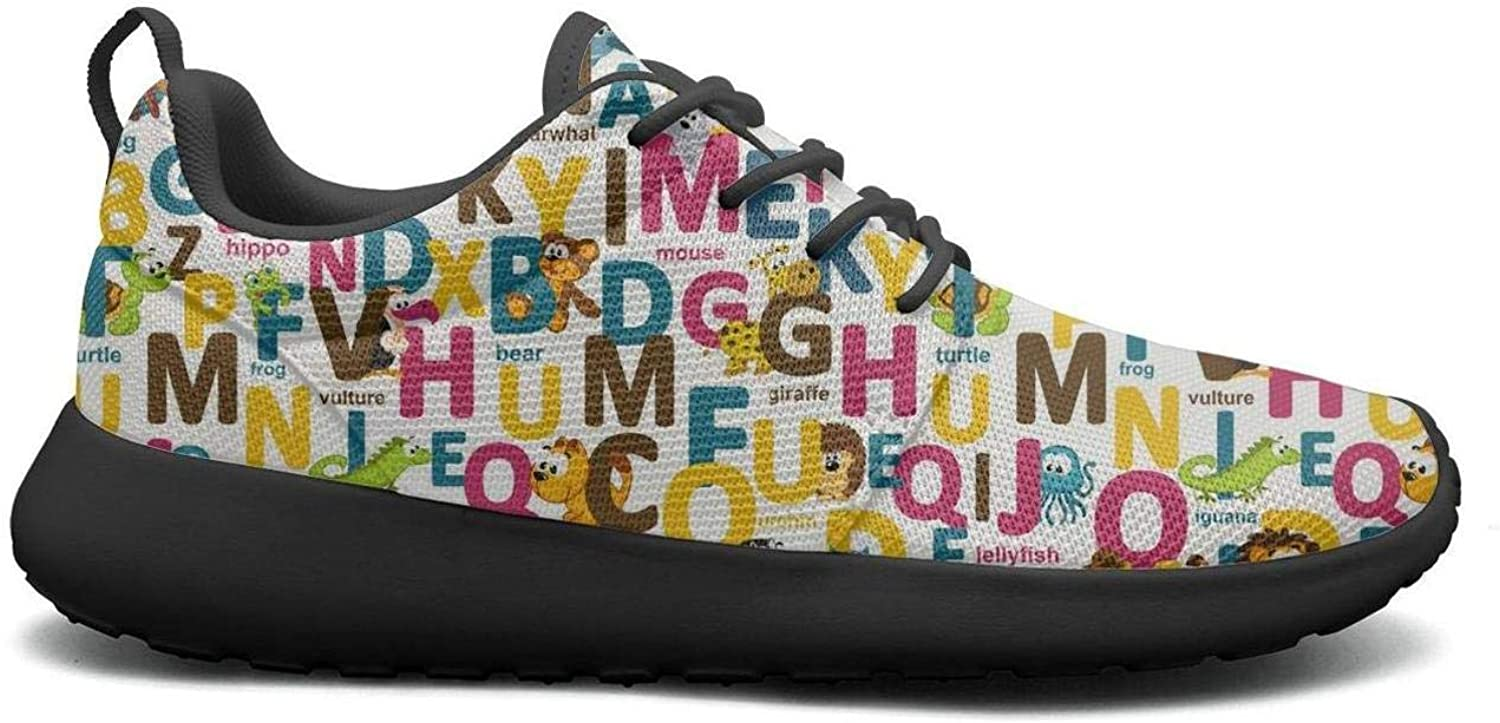 Wuixkas Animals colorful Words Dog Womens Lightweight Mesh Sneakers Comfortable Athletic shoes
