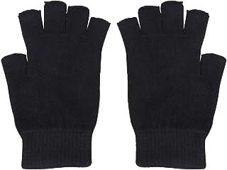 1 par de luvas de lã sem dedos Lioobo, luvas de tricô, luvas quentes de inverno, luvas de dedo para uso ao ar livre e inte...