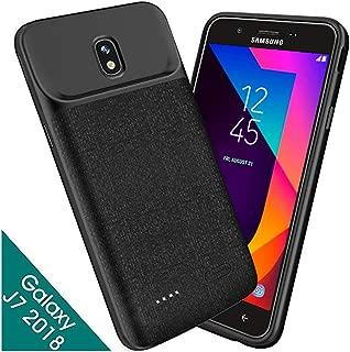 NEWDERY Samsung Galaxy J7 2018 Battery Case, 5000mAh Galaxy J7 Refine Charger Case, Galaxy J7V 2018, Galaxy J7 Star, J7 Top, J7 Aura, J7 Aero, J7 Crown, J7 Eon Charging Case for Galaxy J7 2018(Black)