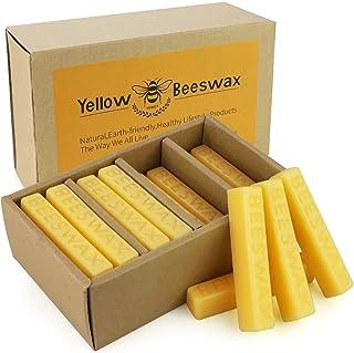YINUO LIGHT Cire d'abeille, 24 Blocs de Cire d'abeille, Parfait pour Les Cosmétiques, Les Bougies, Les Crèmes, Les Savons,...