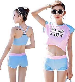 水着 レディース 3点セット タンキニ 半袖 女性 ビキニ Tシャツ 可愛い 速乾吸水