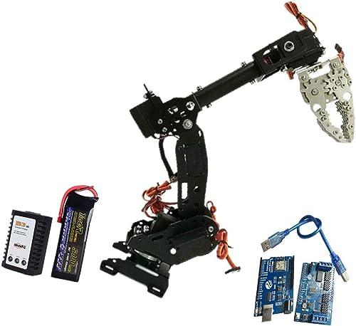Compra calidad 100% autentica Almencla Almencla Almencla Robot Robótico De Acero Inoxidable 8-DOF Brazo Garra Garra Kit DIY Arduino negro - B  deportes calientes