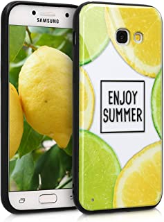 kwmobile Hard Case for Samsung Galaxy A5 (2017) Smartphone - 3D Print Hybrid PC/TPU Back Cover Yellow 45526.01