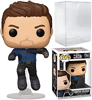 Winter Soldier Pop #701 Pop TV: The Falcon and The Winter Soldier Vinyl Figure (Bundled with EcoTek Protector to Protect D...
