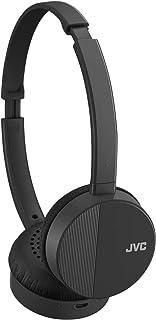 JVC HA-S23W - Auriculares inalámbricos con Bluetooth, diseño Plano Plegable, 17 Horas de duración de la batería (Negro)