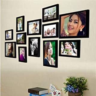 The Art Store Wall Wood MDF Photo Frame (Black,12 Photos)