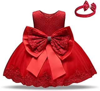 Babywearoutlet Little Girls Princess Dress Girls Fancy Party Costume Wedding Dress Tutu Frocks (red, 80#)