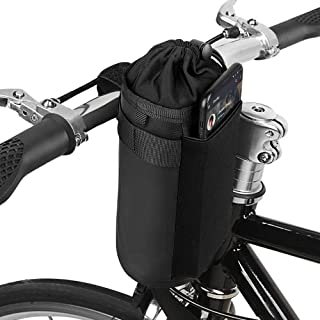 opamoo Bike Bicycle Water Bottle Holder Bag - Handlebar Cup Drink Holder Insulated Stem Bag Attachment Bicycle Cup Holder ...