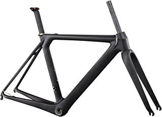 ICAN Full Carbon Aero Road Bicycle Frame with Fork BB86 UD Matt