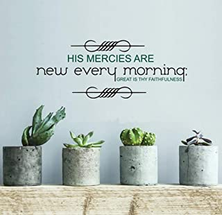 Wall Stickers Art Decor Decals His Mercies are New Every Moring for Boys Room Nursery Kids Room