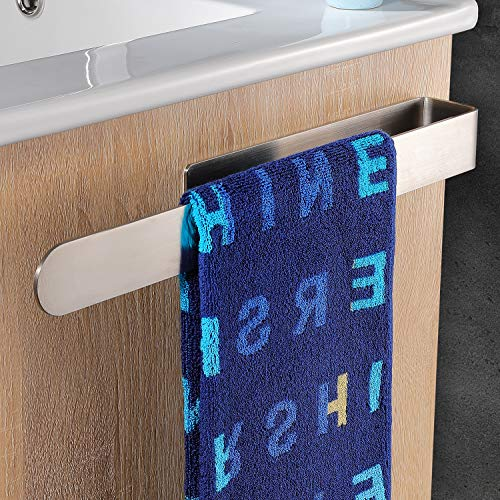 YIGII Handtuchhalter Ohne Bohren Bad Handtuchstange Edelstahl Gebürstet Handtuchring Selbstklebend 37cm
