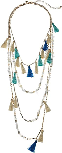 Layered Tassel Statement Necklace