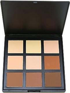 Face Base Foundation Palette 9 Color Natural Contour, Vodisa Highlighter Powder Kit Makeup Set, Cheek Foundation Pressed P...
