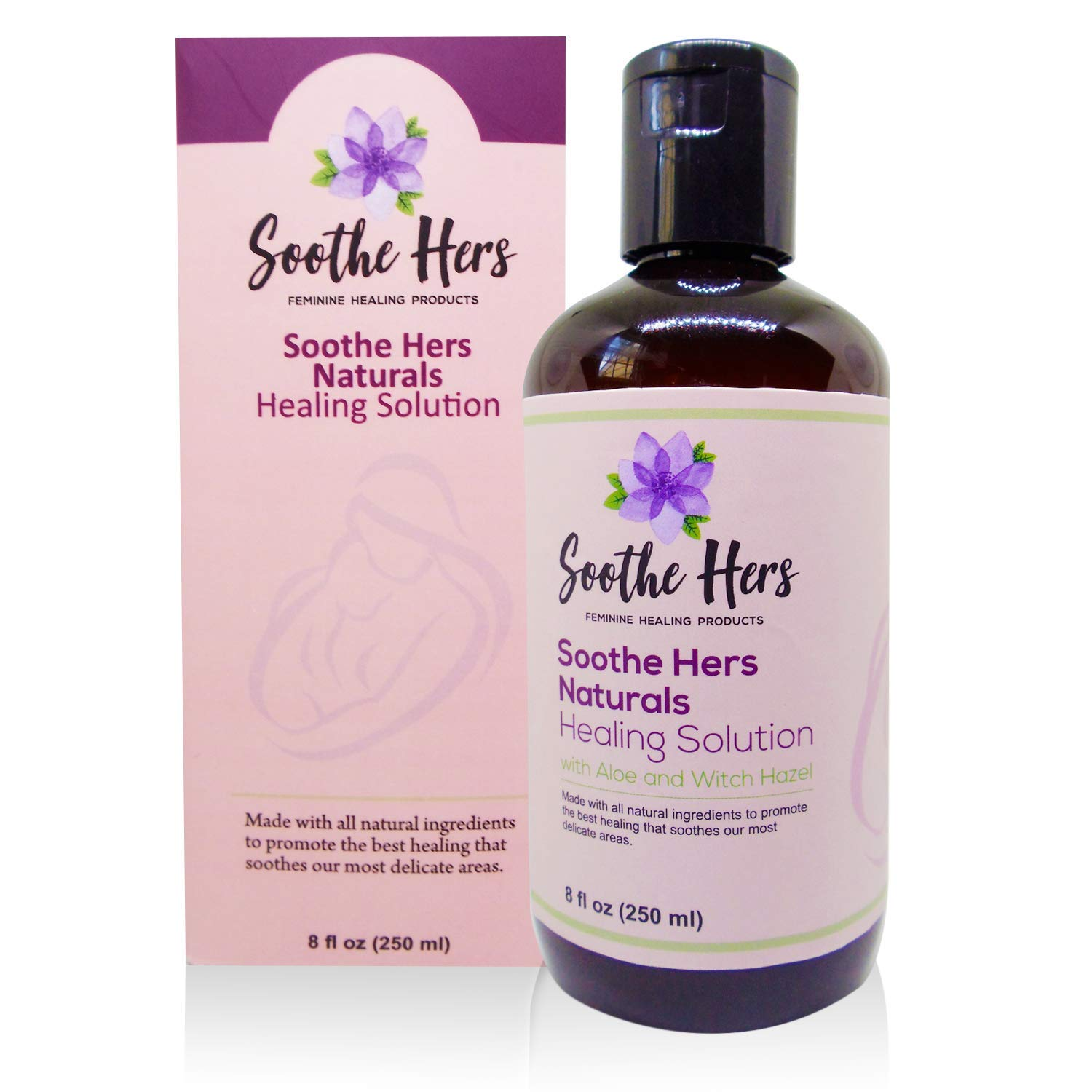 Postpartum Healing Solution by Soothe Hers | Natural Perineal Recovery & Care for Moms | Safe for Pregnancy | Labor & Delivery Bag | Birthing Prep | Baby Shower Gift | 8 oz
